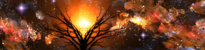 Horizontal ambre d'imagination Photo stock