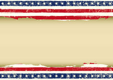 Horizontal American dirty flag Royalty Free Stock Image