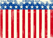 Horizontal American grunge flag Royalty Free Stock Image