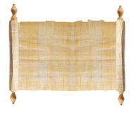 Horizontal ancient scroll. Isolated over a white background Stock Images