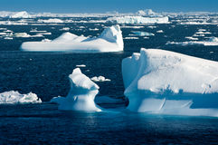 Horizontal antarctique Photo libre de droits