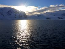 Horizontal antarctique Photographie stock libre de droits
