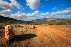 Horizontal approximatif de Crète, Grèce Images libres de droits