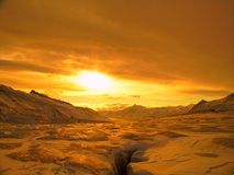 Horizontal arctique Photo stock