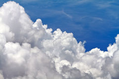 Horizontal aérien des nuages Images libres de droits
