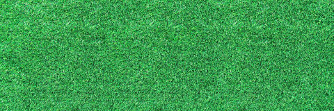 Horizontal artificial green grass for pattern and background Stock Photo