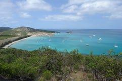 Horizontal australien Île de lézard, la Grande barrière de corail, Queensland, Australie image libre de droits