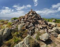 Horizontal australien Île de lézard Récif de barrière grand, Queensland, Australie image libre de droits