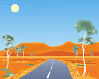 Horizontal australien illustration de vecteur