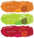 Horizontal autumn banners. Three horizontal autumn banners with text Royalty Free Stock Photography
