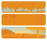 Horizontal autumn banners Stock Images