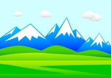 Horizontal avec des montagnes Photos stock