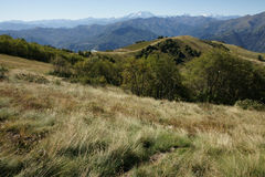 Horizontal avec des montagnes Photo libre de droits