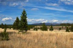 Horizontal avec des montagnes images libres de droits