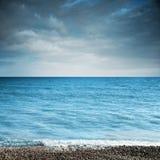 Horizontal avec la mer Photographie stock libre de droits