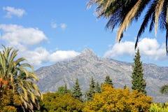 Horizontal avec la montagne de conque de La à Marbella Photos libres de droits