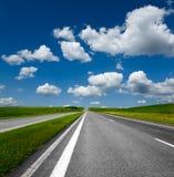 Horizontal avec la route Photo stock