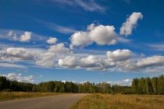 Horizontal avec la route Image libre de droits
