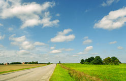 Horizontal avec la route de campagne. Photo stock