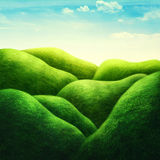 Horizontal avec la zone verte photographie stock