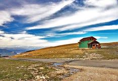 Horizontal avec le ciel bleu Images libres de droits