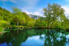 Horizontal avec le lac photographie stock