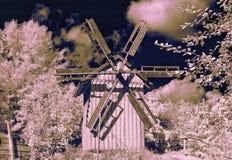 Horizontal avec le moulin Photographie stock