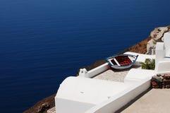 Horizontal avec un bateau Photographie stock libre de droits