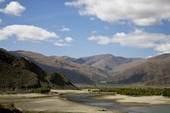 Horizontal avec un fleuve Image libre de droits