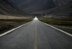 Horizontal avec une route Images stock