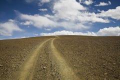 Horizontal avec une route Photo libre de droits
