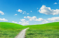 Horizontal avec une route Image stock