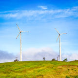 Horizontal Axis Wind Turbines Royalty Free Stock Photo