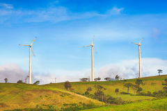 Horizontal Axis Wind Turbines Royalty Free Stock Photography