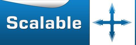 Horizontal azul evolutivo Imagem de Stock