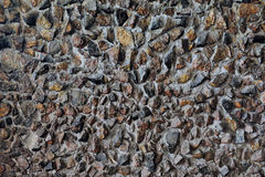 Horizontal background with old stone wall Stock Photography