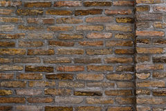 Horizontal Background Pattern of Old Brick Wall Texture Royalty Free Stock Photos