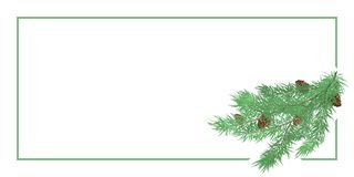 Horizontal background with pine branch vector illustration