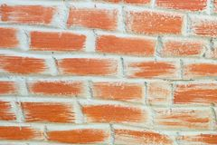 Horizontal Background Texture of The Red Brick Wall Royalty Free Stock Photos