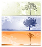 Horizontal backgrounds for design. In orange, blue and green colors Stock Images