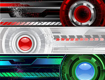 Horizontal a banner with the abstract mechanism Stock Images
