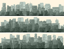 Horizontal banner of big city. Stock Images