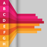 Horizontal banner with colorful lines Royalty Free Stock Photography