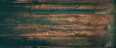 Dark Weathered Cedar Wooden Background With Warm Vintage Effect stock images