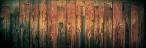 Dark Weathered Cedar Wooden Background With Warm Vintage Effect stock photo