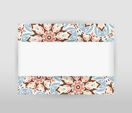 Horizontal banner with floral pattern Stock Images