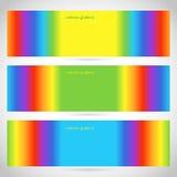 horizontal-banner-rainbow-gradient Royalty Free Stock Photos