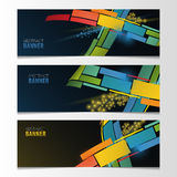 Horizontal banner set. Abstract colorful vector Royalty Free Stock Images