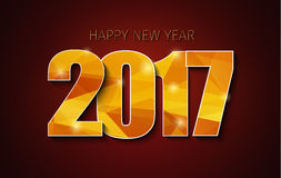 Horizontal banner template background Happy New Year 2017 Stock Photos