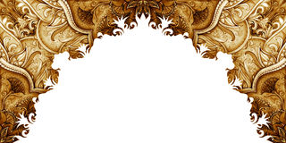 Horizontal banner template. Vintage Illustration Royalty Free Stock Photography